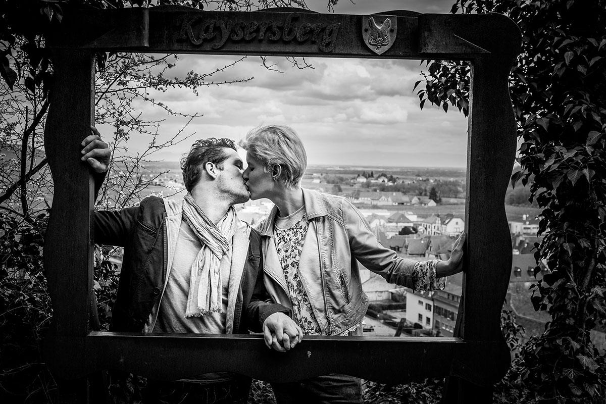 mariage séance couple noir blanc strasbourg alsace